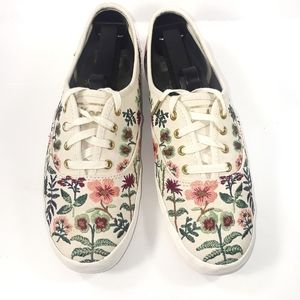 Keds floral embroidery shoes